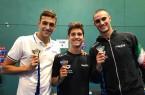 I 3 medagliati di Glasgow