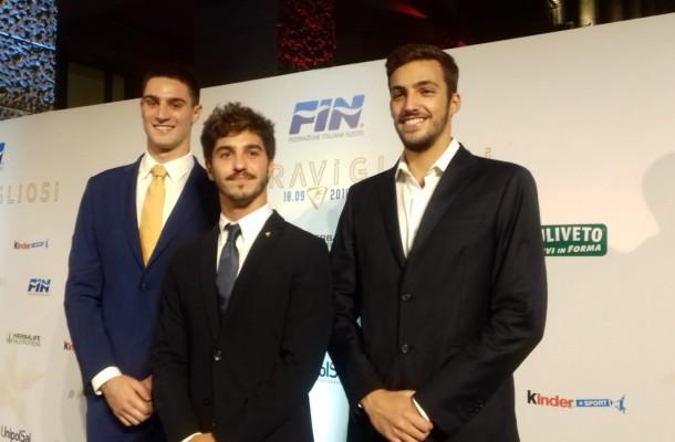 i 3 medagliati europei